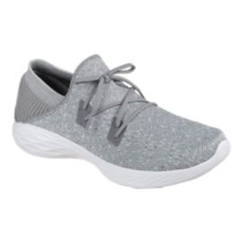 SKECHERS Women's YOU Lace Shoes - Grey