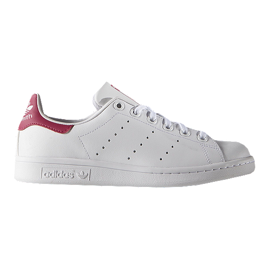 adidas Girls' Stan Smith Grade School Shoes WhitePink