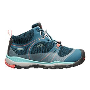820d80d79e8d Keen Girls  Terradora Mid Waterproof Grade School Hiking Boots - Blue Coral
