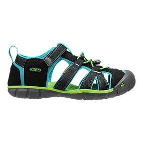 cheap for discount d81cc f5846 Keen Kids  Seacamp II CNX Sandals - Black Blue