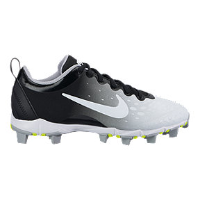 Nike Women's Hyperdiamond 2 Keystone Low Baseball Cleats - Black/White