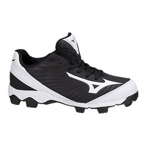 Mizuno Women's 9-Spike Advanced Finch Franchise Low Baseball Cleats - Black/White