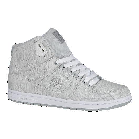 59884fe171fef6 DC Women's Pure High-Top TX Skate Shoes - Grey/White   Sport Chek