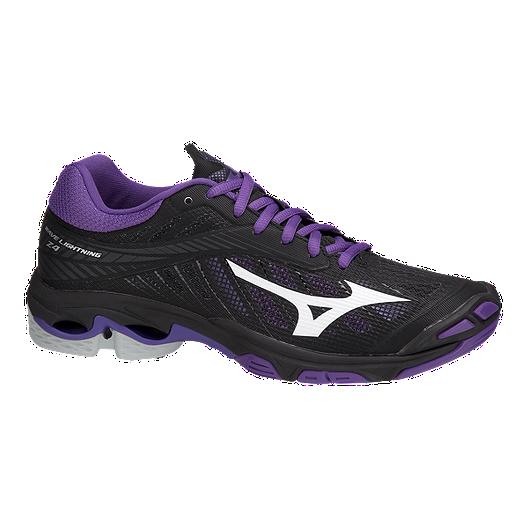 98f6113e Mizuno Women's Wave Lightning Z4 Indoor Court Shoes - Black/Purple | Sport  Chek
