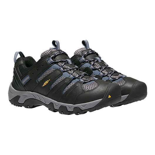 037084d80ca Keen Men's Koven Low Hiking Shoes - Black/Blue | Sport Chek