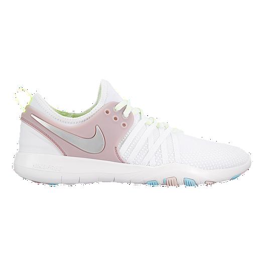 3f53b7c80975 Nike Women s Free TR 7 Training Shoes - White Pink Silver
