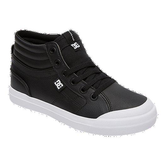 fdcc753914e1 DC Kids' Evan Hi SE Zip Leather High Top Skate Shoes - Black/White   Sport  Chek