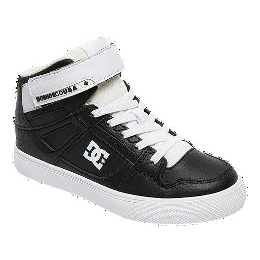 9002efaf70 DC Kids' Pure High-Top EV Grade School Skate Shoes - Black/White