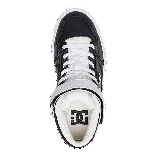 d3f3263168 DC Kids' Pure High-Top EV Grade School Skate Shoes - Black/White