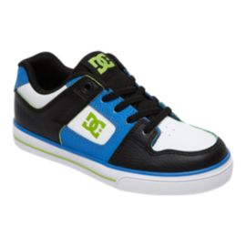 DC Kids' Pure Elastic SE Preschool Skate Shoes - Blue/Black/White