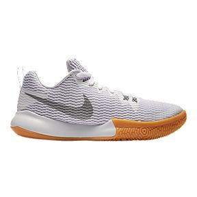 8769d9ddbdd Nike Women s Zoom Live II Basketball Shoes - White Silver