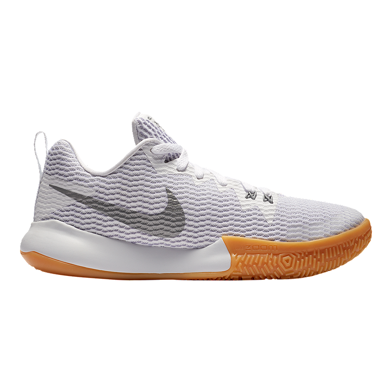 Nike Women s Zoom Live II Basketball Shoes - White Silver  d03321783b