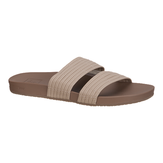 Reef Women S Cushion Bounce Slide Sandals Nude