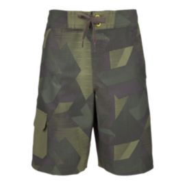 Ripzone Boys' Robbie All Over Print Swim Shorts