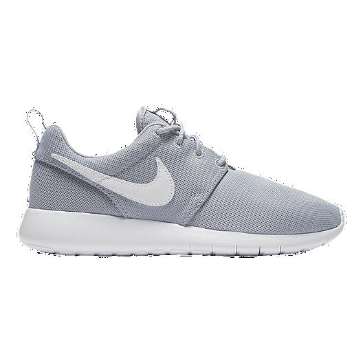 best service e1005 92d00 Nike Girls' Roshe One Grade School Shoes - Wolf Grey/White