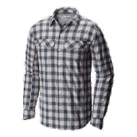 bd50492f6 Columbia Men's Silver Ridge Plaid Long Sleeve Shirt - Whale Heather Plaid |  Sport Chek