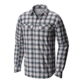 Columbia Men's Silver Ridge Plaid Long Sleeve Shirt - Whale Heather Plaid