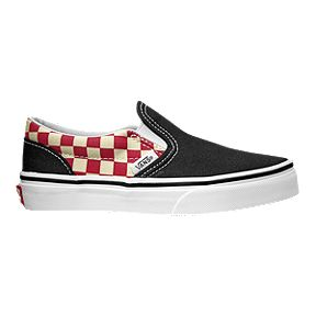 Vans Kids  Classic Slip-On Shoes - Black Red 9989a7edc