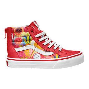 3336e103eb Vans Girls  SK8 Hi Zip Shoes - Glitter Fruits