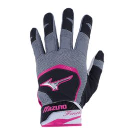 Mizuno Jennie Finch Batting Glove - Grey/Pink