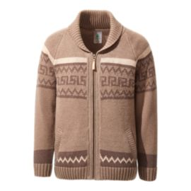 Woods Men's Manitou Wool Sweater - Brindle Brown