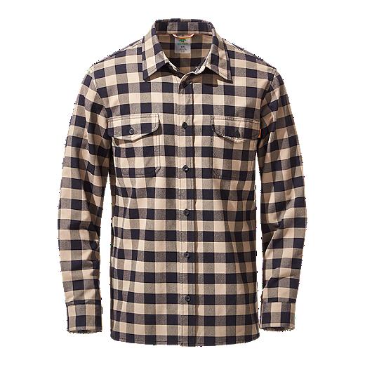 51f5b2dd5 Woods Men's Burwell Flannel Long Sleeve Shirt - Brindle/Ink - BRINDLE/ INK