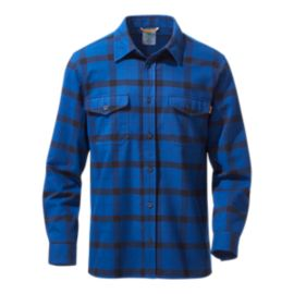 Woods Men's Burwell Flannel Long Sleeve Shirt - Seagrasso Sea/Ink