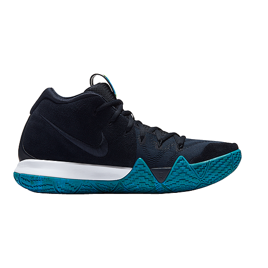 adfc07066917 Nike Men s Kyrie 4 Basketball Shoes - Dark Obsidian Black