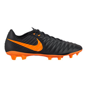 Nike Men's Tiempo Legend 7 Academy FG Outdoor Soccer Cleats - Black/Orange