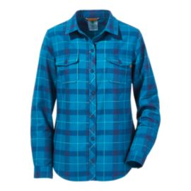 Woods Women's Peyto Flannel Long Sleeve Shirt - Ink Blue