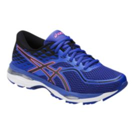 ASICS Women's Gel Cumulus 19 D Wide Width Running Shoes - Purple/Black