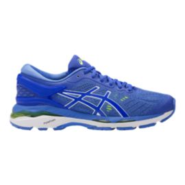 ASICS Women's Gel Kayano 24 D Wide Width Running Shoes - Purple/Blue/White