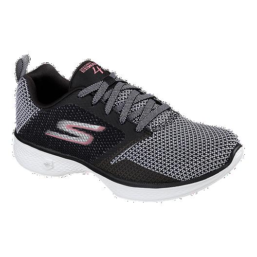 0b252157805 Skechers Women's GoWalk 4 Edge Shoes - Black/Dark Grey/Pink | Sport Chek