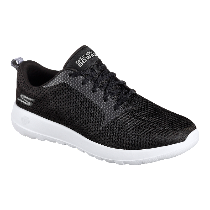 hoard as a rare commodity clearance price Skechers Men's Go Walk Max Wide Width Shoes - Black/White