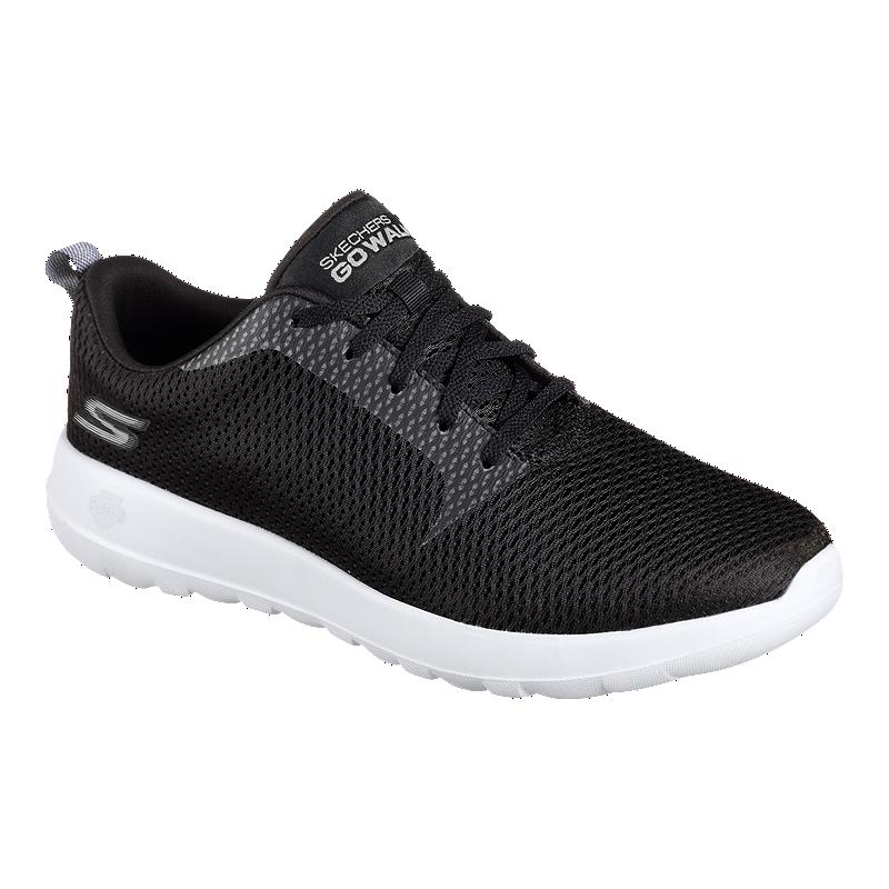Skechers Men S Go Walk Max Wide Width Shoes Black White