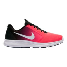 Nike Girls' Revolution 3 Grade School Shoes - Pink/Black/White