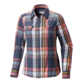 Columbia Women's Silver Ridge Lite Plaid Long Sleeve Shirt - Nocturnal Multi Plaid