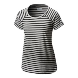 Columbia Women's Trail Shaker Stripe Short Sleeve T Shirt - Black
