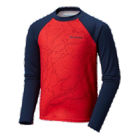 2f6c3dcf Columbia Boys' Mini Breaker Printed Long Sleeve Sunguard Shirt   Sport Chek