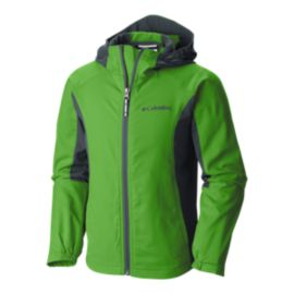Columbia Boys' SplashFlash Hooded Softshell Jacket