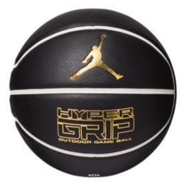 Jordan Hyper Grip Size 7 Basketball - Black/Gold