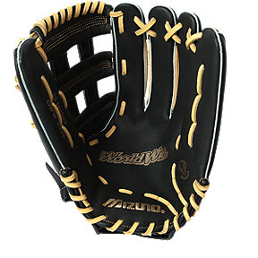 "Mizuno World Win 13"" Softball Glove - Black/Cork"