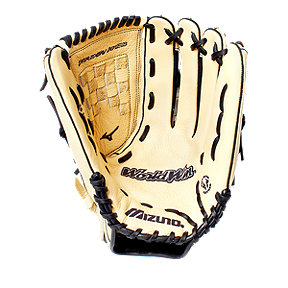 "Mizuno World Win 14"" Softball Glove- Tan/Black"