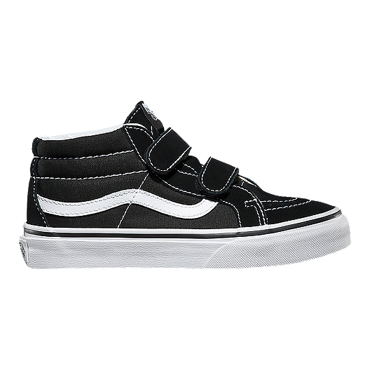 8e8603b785cb16 Vans Kids  SK8 Mid Reissue 2V Shoes - Black White