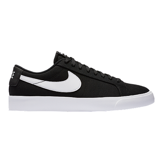 new arrivals 74854 a7a80 Nike Men s SB Blazer Vapor Textile Skate Shoes - Black White - BLACK WHITE
