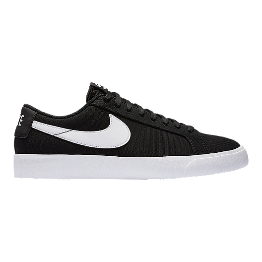 37622bf59e585 Nike Men s SB Blazer Vapor Textile Skate Shoes - Black White