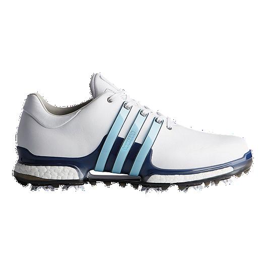 sports shoes d462f 88d5d adidas Golf Men s Tour 360 Boost 2.0 Golf Shoes - White Blue   Sport Chek