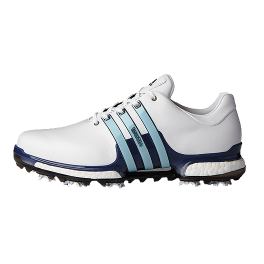 amazing price sneakers for cheap clearance sale adidas Golf Men's Tour 360 Boost 2.0 Golf Shoes - White/Blue ...
