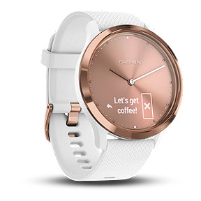 Garmin vívomove HR Sport Smartwatch - White/Rose Gold