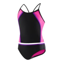 Speedo Girls' Heather Splice Tankini